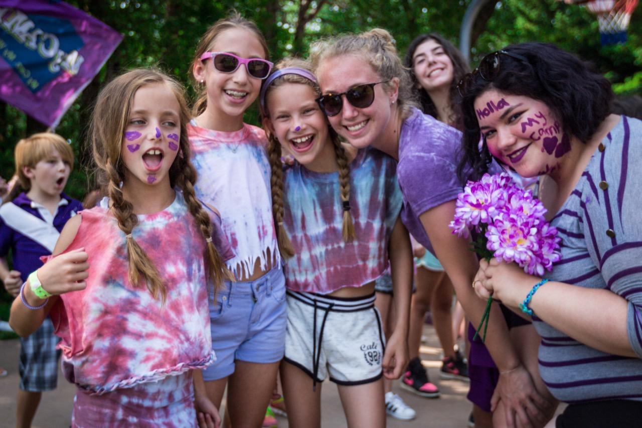 girls wearing purple